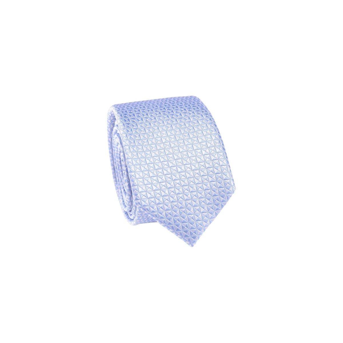 Cravate 100% soie motif triangle