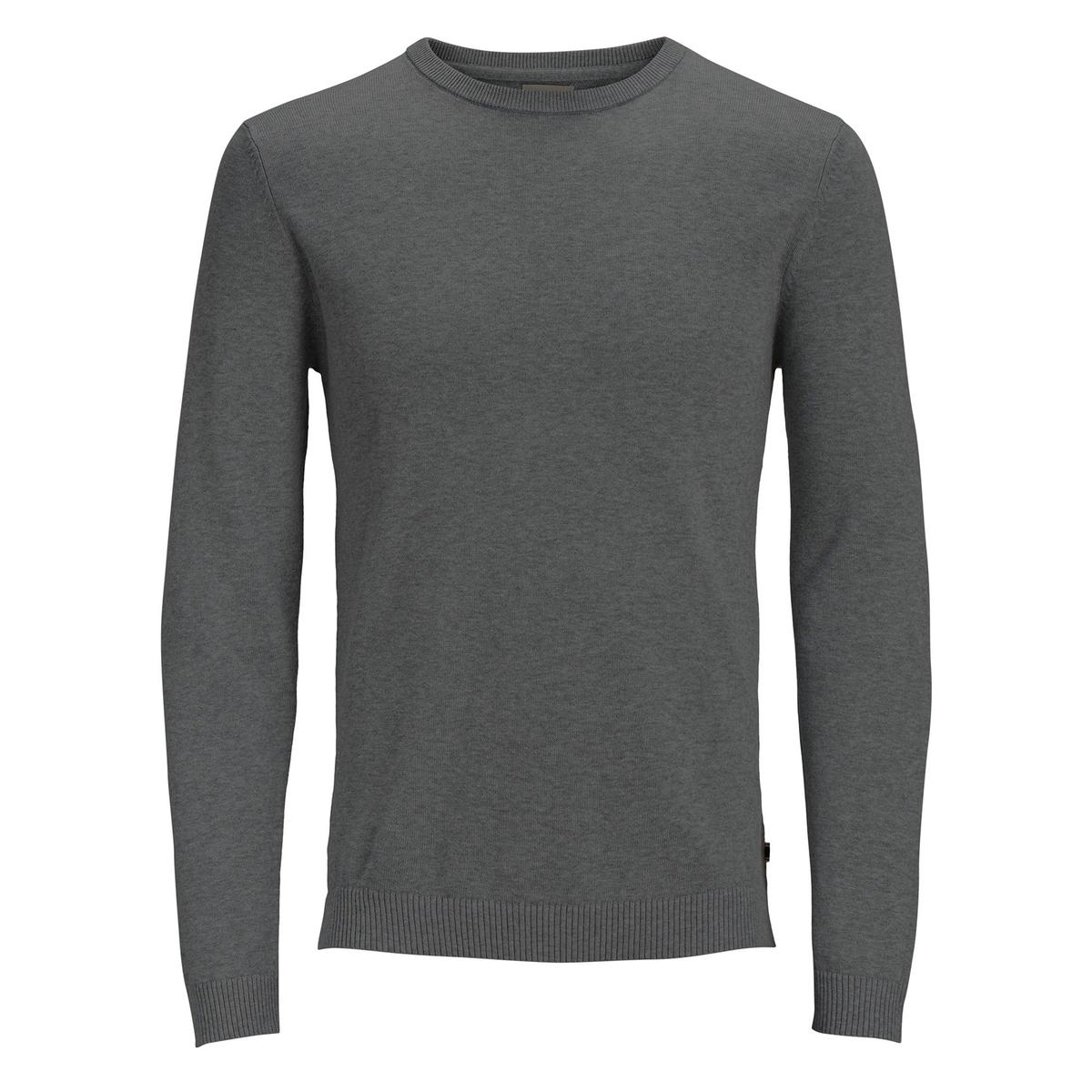 Пуловер La Redoute С круглым вырезом из тонкого трикотажа XXL серый