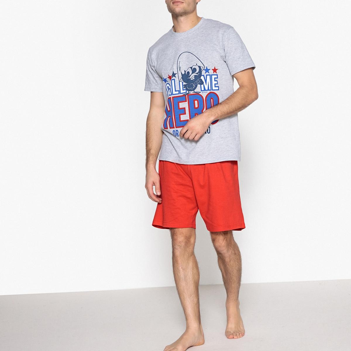 Пижама с шортами с рисунком solo1 с