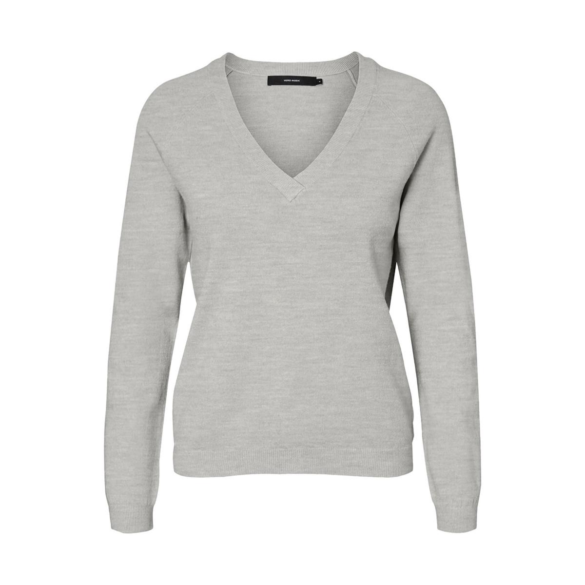 Пуловер с V-образным вырезом из тонкого трикотажа