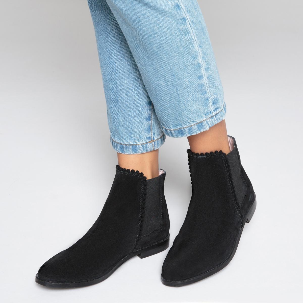 Ботинки-челси кожаные с помпонами купить футбольную форму челси торрес