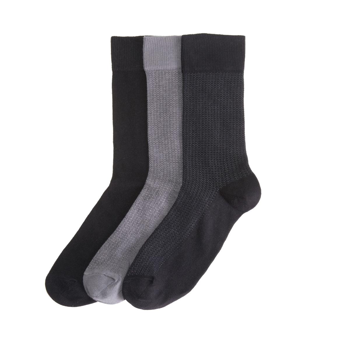 цена на Комплект из 3 пар носков La Redoute La Redoute 39/42 черный