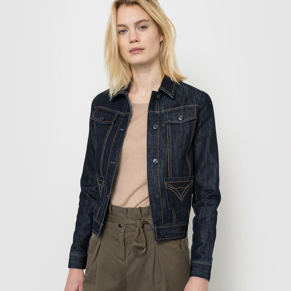 Жакет короткий джинсовыйНеобходимая модель для Вашего гардероба.<br><br>Цвет: темно-синий<br>Размер: 36 (FR) - 42 (RUS).38 (FR) - 44 (RUS)