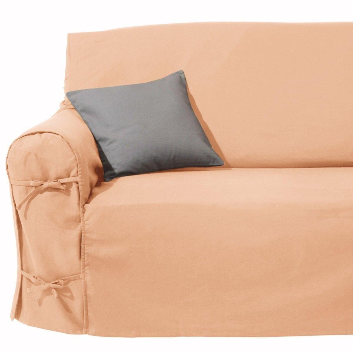 Чехол для диванаХарактеристики чехла для дивана:Практичный чехол для дивана, регулируется завязками. Красивая плотная ткань, 100% хлопок (220 г/м?).Обработка против пятен.Простой уход : стирка при 40°, превосходная стойкость цвета.Размеры чехла для дивана:Общая высота: 102 см.Глубина сиденья: 60 см.Высота : подлокотник 66 см.3 модели на выбор : - 2-местн. : шир.142 см макс.,- 2-3 местн. : шир. 180 см макс.,- 3-местн. : шир. 206 см макс..Сверьте размеры перед заказом !Качество VALEUR S?RE.Сертфикат Oeko-Tex® дает гарантию того, что товары изготовлены без применения химических средств и не представляют опасности для здоровья человека  .<br><br>Цвет: персиковый<br>Размер: 2/3 мест