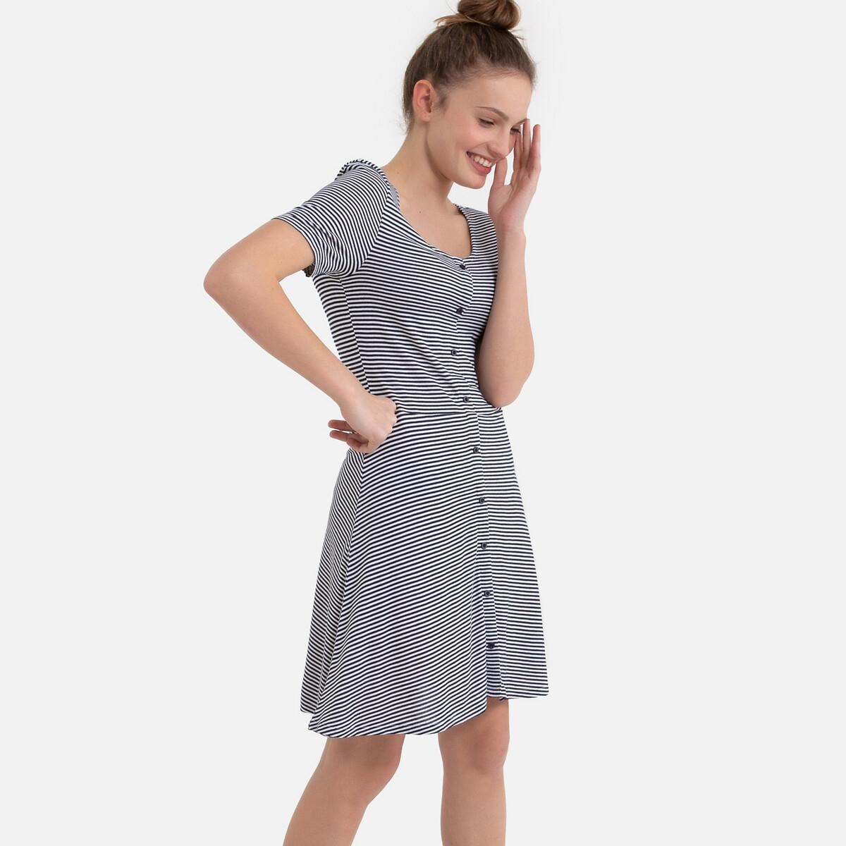 Платье La Redoute В полоску с короткими рукавами 10 лет - 138 см другие