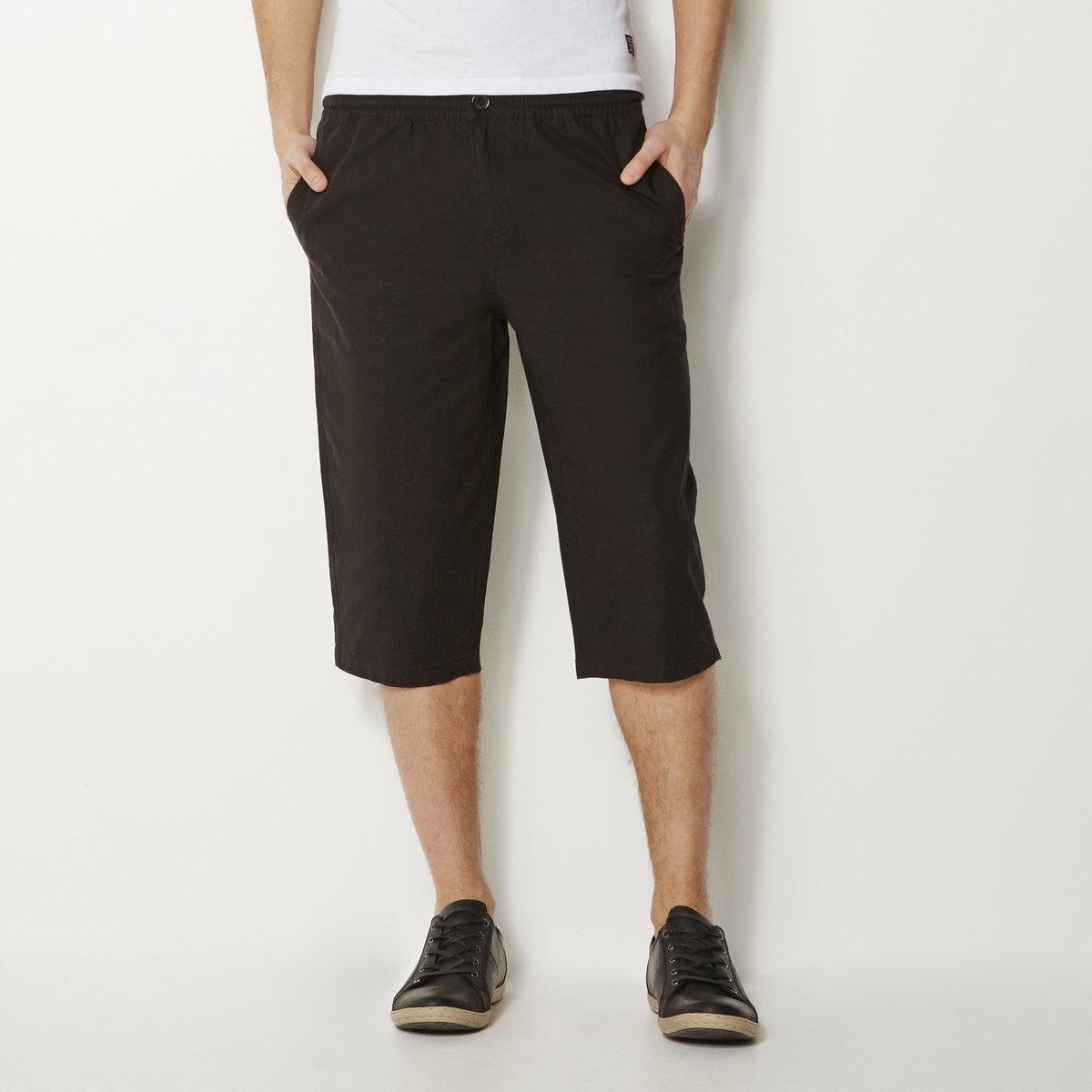 Брюкие укороченные хлопковыеДетали •  Укороченные брюки •  Высота пояса стандартная •  Эластичный поясСостав и уход •  100% хлопок •  Машинная стирка при 40° •  Сухая чистка и отбеливание запрещены •  Барабанная сушка при умеренном режиме •  Гладить при средней температуре<br><br>Цвет: бежевый,белый,черный<br>Размер: 34/36.34/36.38/40.42/44.46/48.34/36.38/40