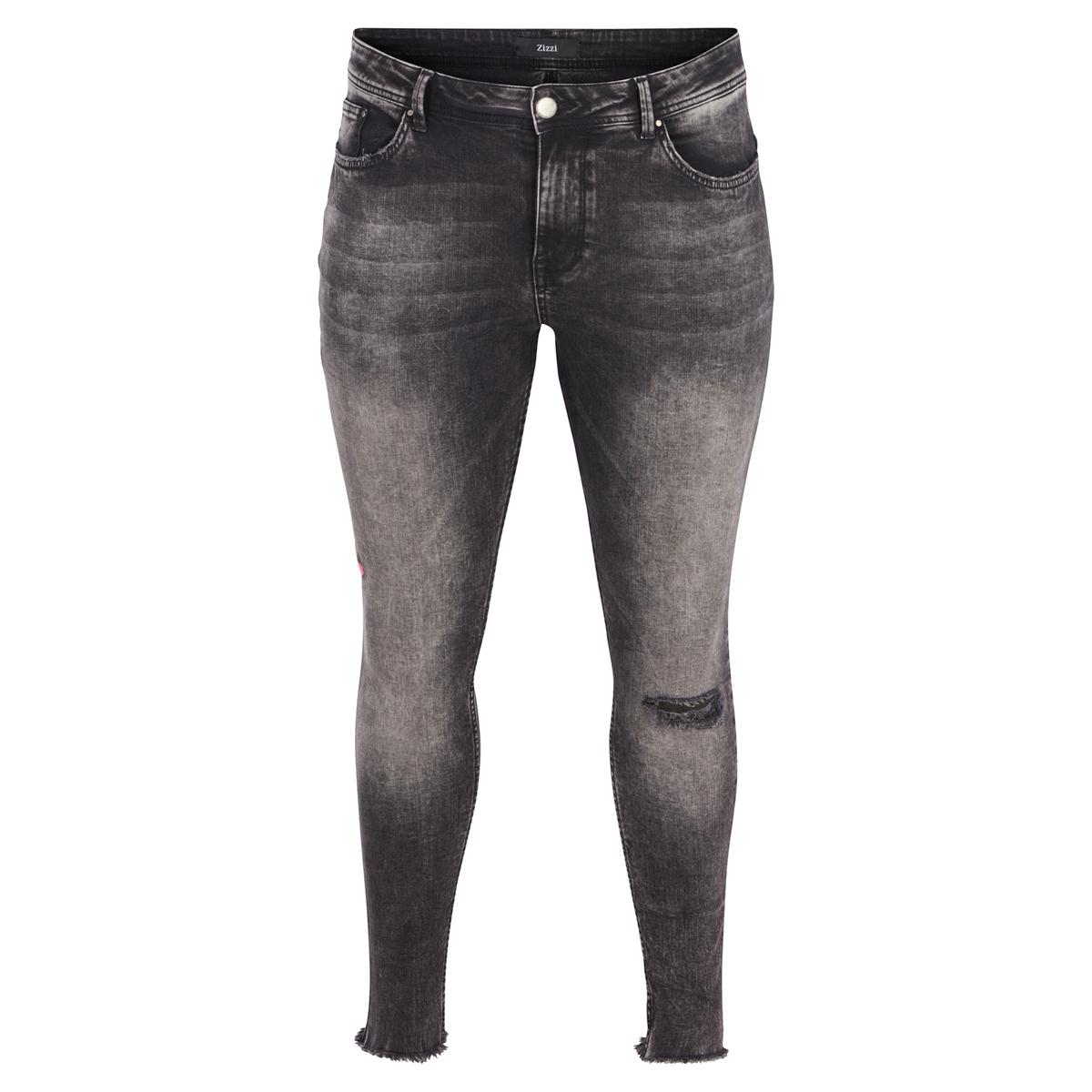 Джинсы покроя суперскинниОписание:Очень узкие джинсы с модными деталями.Детали •  Суперскинни •  Стандартная высота поясаСостав и уход •  85% хлопка, 9% других волокон, 6% эластана •  Следуйте рекомендациям по уходу, указанным на этикетке изделияТовар из коллекции больших размеров<br><br>Цвет: черный потертый<br>Размер: 48 (FR) - 54 (RUS).46 (FR) - 52 (RUS).44 (FR) - 50 (RUS)