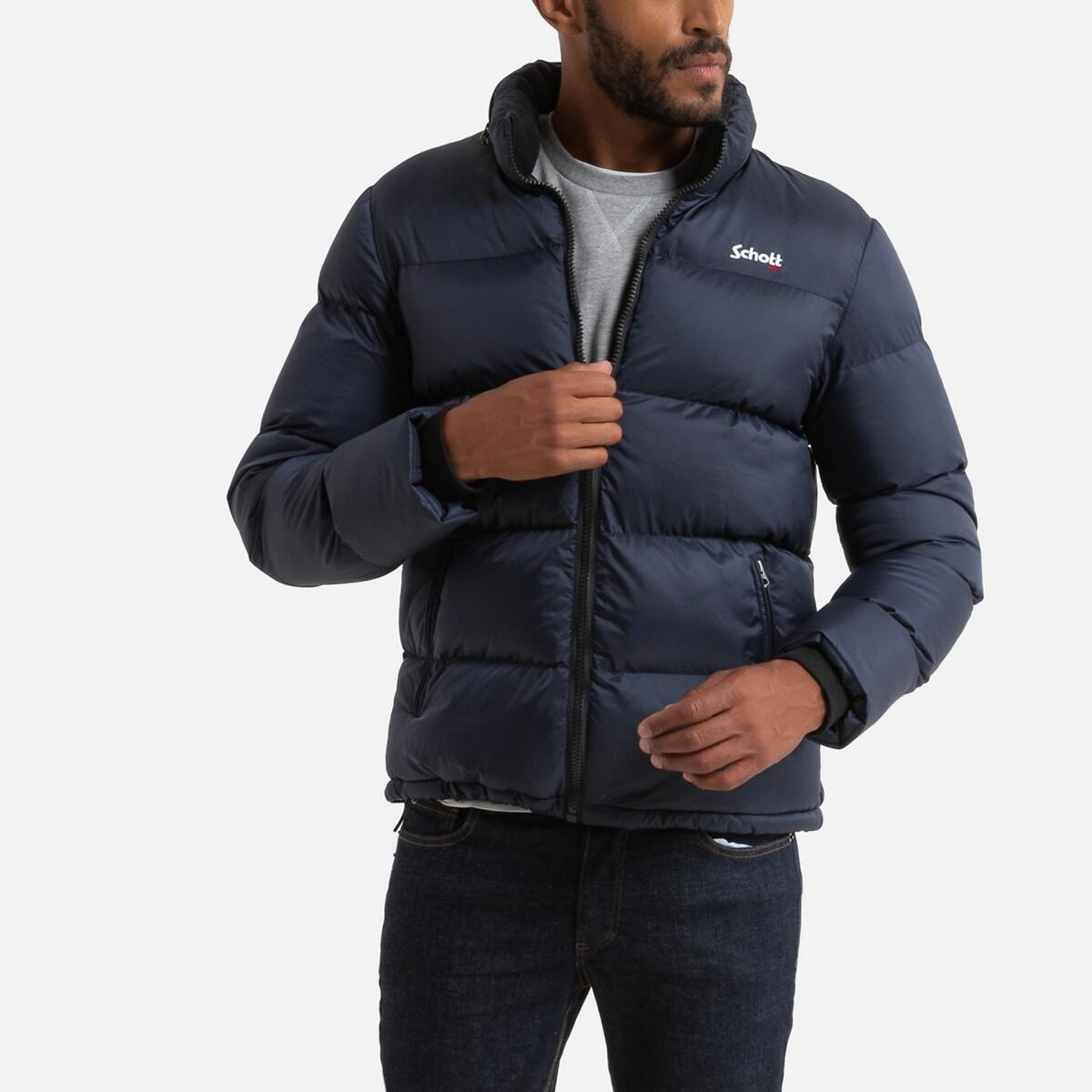Куртка LaRedoute Стеганая на молнии с воротником-стойкой Idaho L синий куртка la redoute стеганая на молнии с капюшоном idaho 2 3xl синий