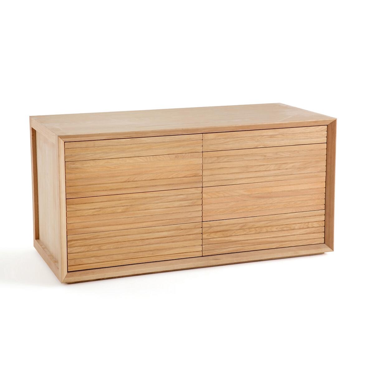 Шкаф LaRedoute Для одежды двойной нижняя часть Joaquin единый размер каштановый