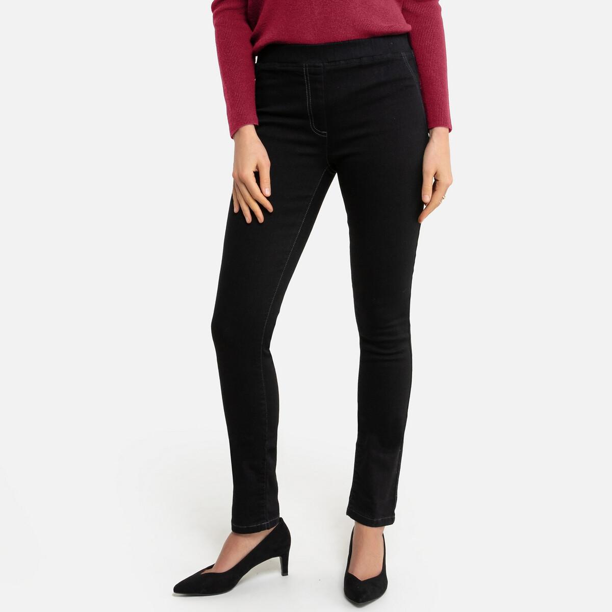 Jeans tipo jeggings, cós elástico