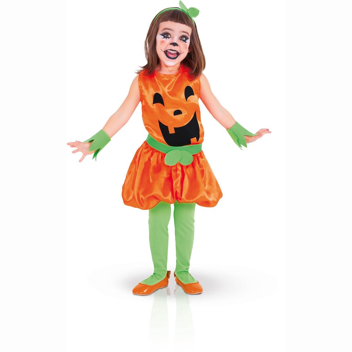 Маскарадный костюм тыквыМаскарадный костюм тыквы с короткими рукавами, головным убором и манжетами из войлока. Все для незабываемого Хэллоуина. 100% полиэстера. S : соответствует размеру для 3-4 лет. M: соответствует размеру для 5-6 лет. L : соответствует размеру для 7-8 лет<br><br>Цвет: набивной рисунок<br>Размер: S.M