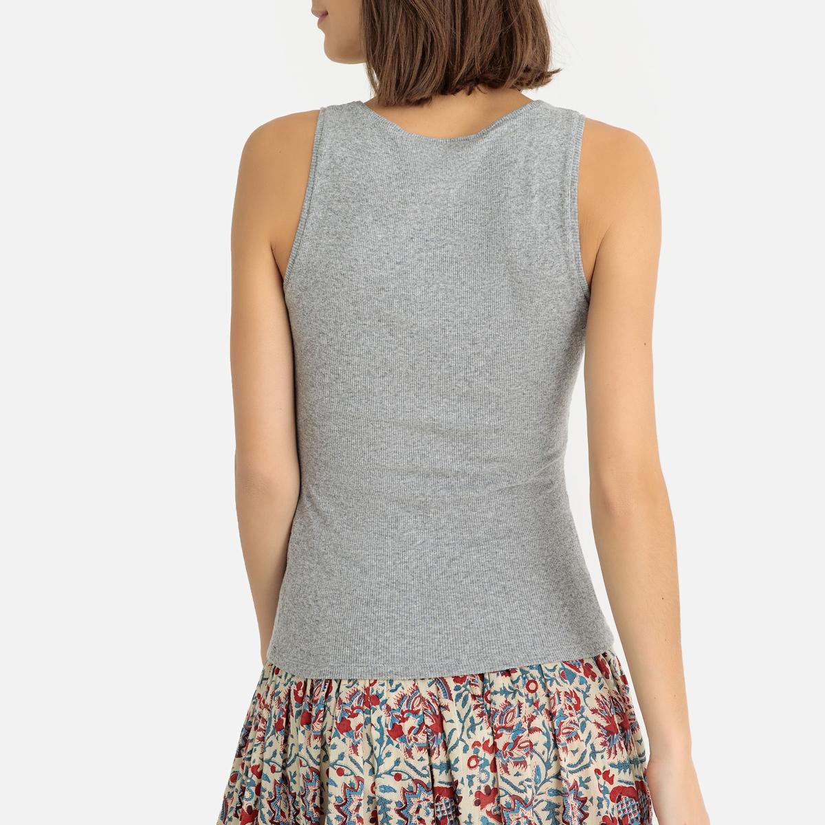 Imagen adicional 3 de producto de Camiseta sin mangas de canalé fino VITIBOO - American Vintage