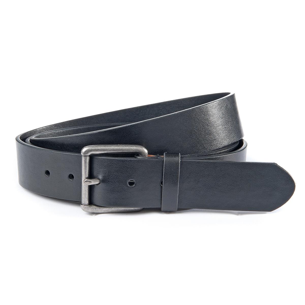 Ремень кожаныйМатериал : Кожа, синдерм Застежка : Металлическая пряжка    Ширина : 4,3 см. Обхват талии в см<br><br>Цвет: каштановый,черный
