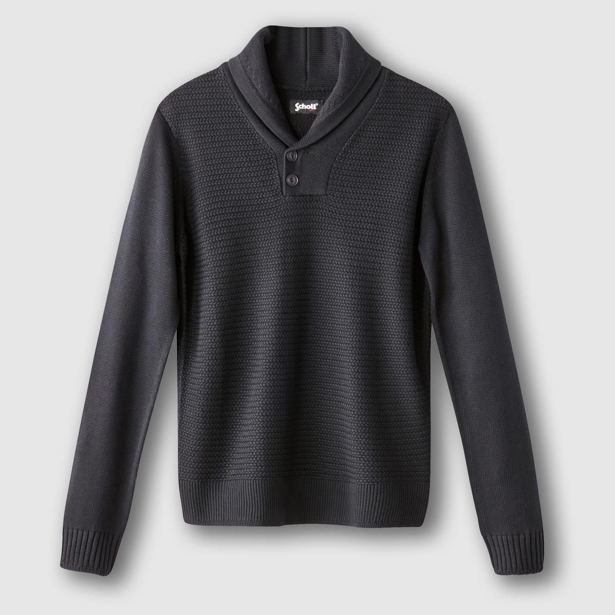 ПуловерСостав и описание:Материал: 50% хлопка, 50% акрила.Марка: SCHOTT.<br><br>Цвет: темно-синий,черный<br>Размер: M.XL