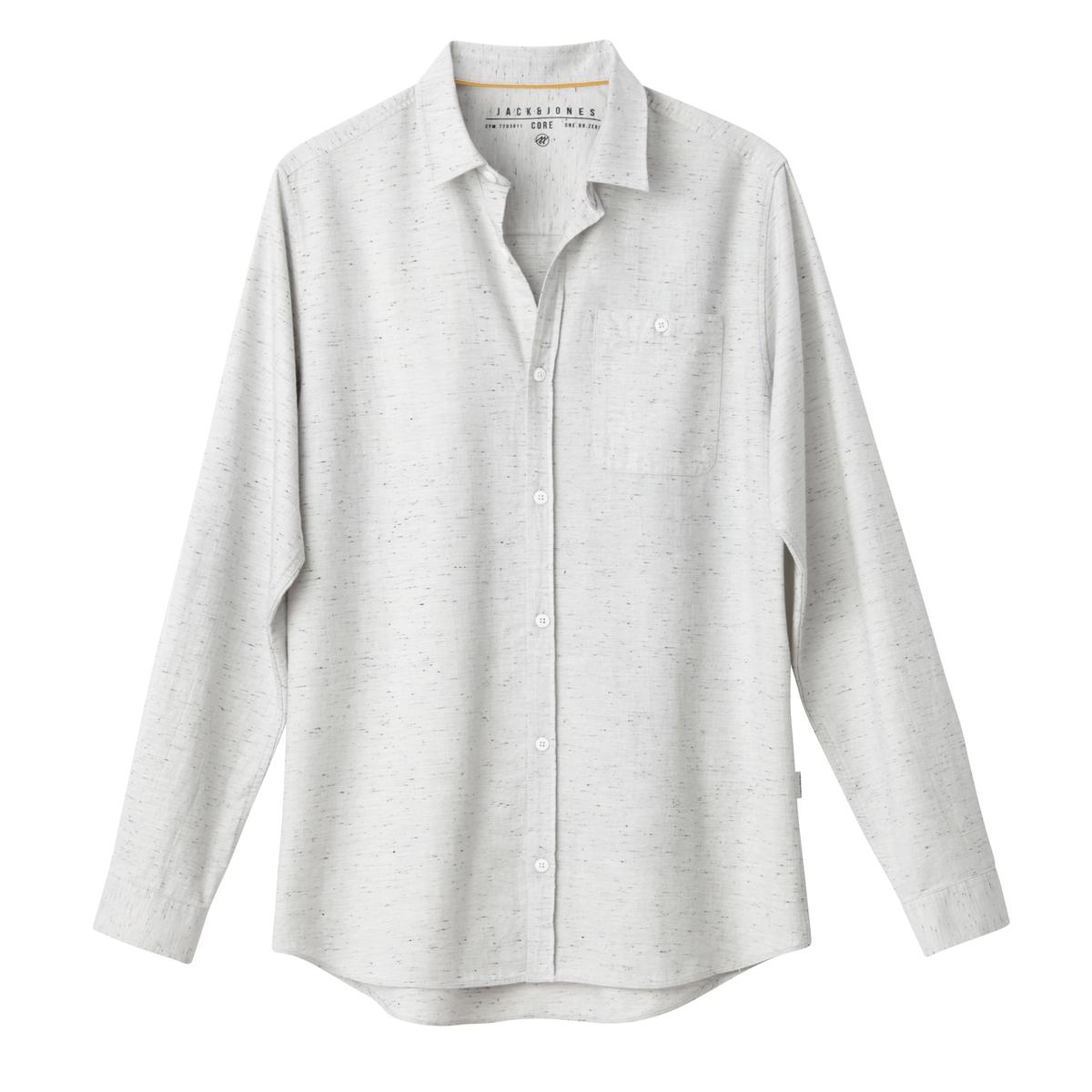 Рубашка с рисунком и длинными рукавамиДетали •  Длинные рукава •  Приталенный покрой   •  Классический воротник •  Рисунок-принтСостав и уход •  100% хлопок •  Следуйте советам по уходу, указанным на этикетке<br><br>Цвет: белый меланж,синий морской