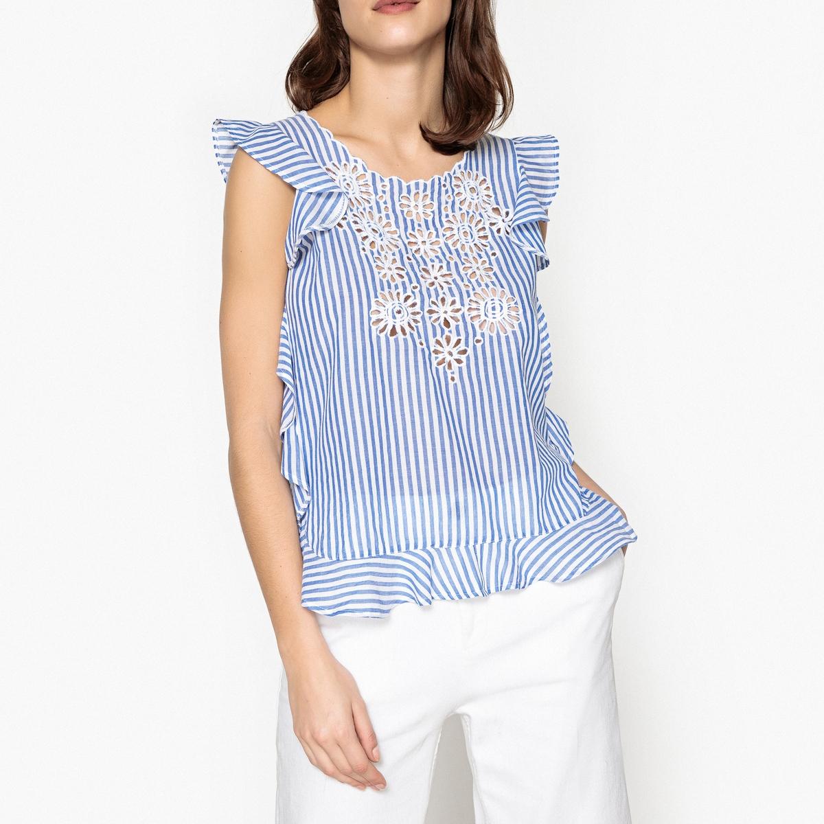 Блузка с воланом без рукавов MARINA batik batik зимний комплект маруся 350 200гр сиреневый