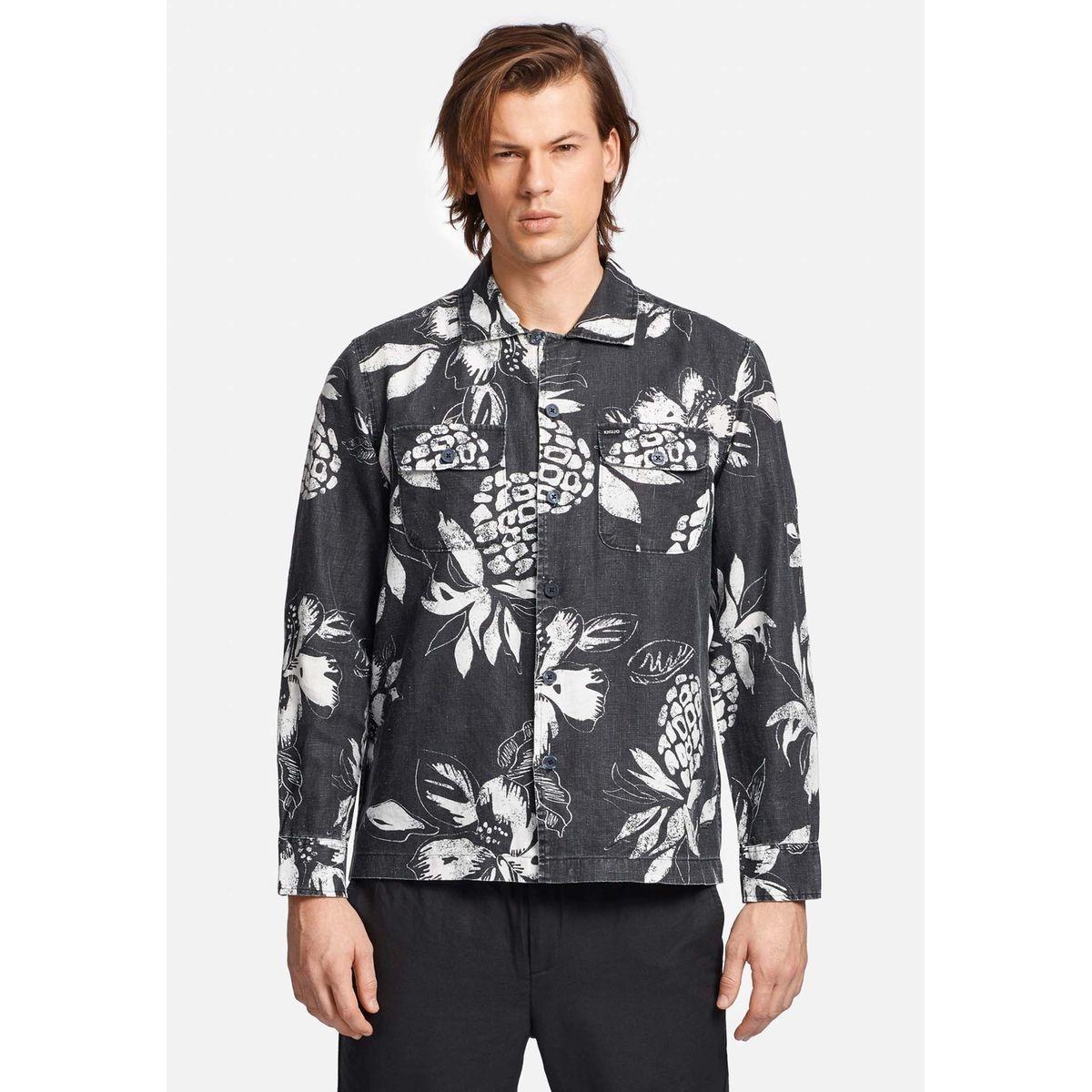 Chemise en lin avec imprimé hawaiien PABLO