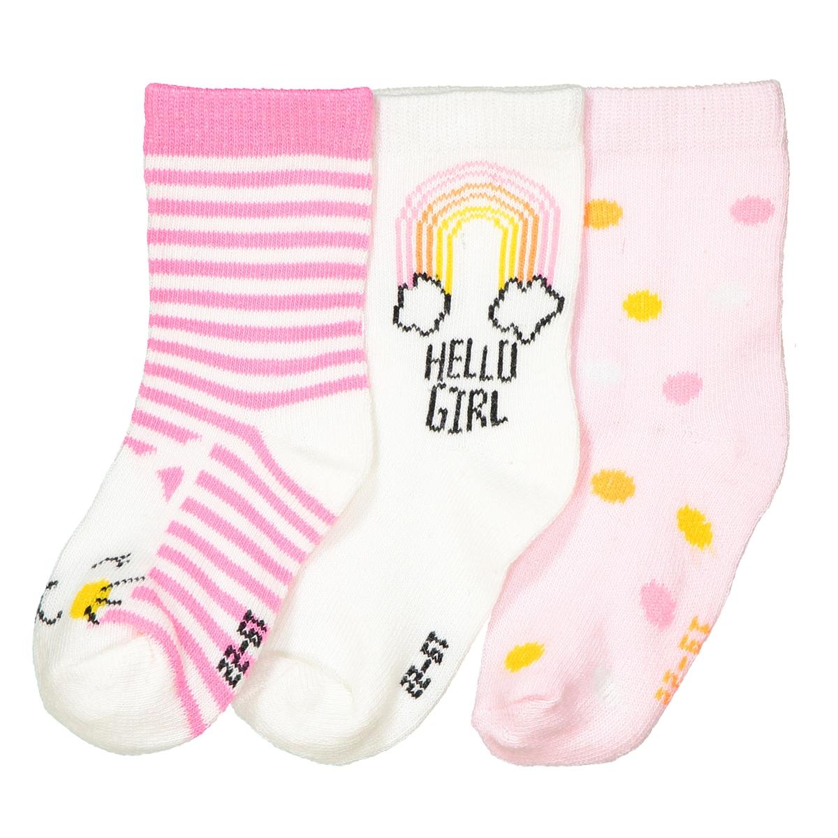 Носки низкие с рисунком, комплект из 3 пар mini r