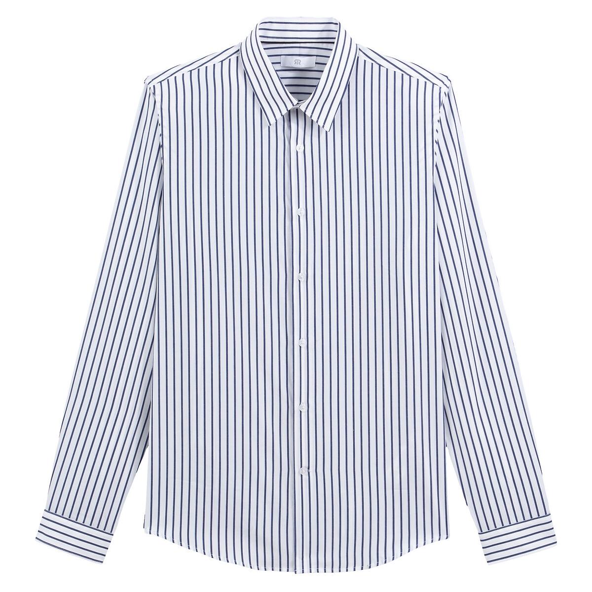 Camisa slim de manga larga a rayas
