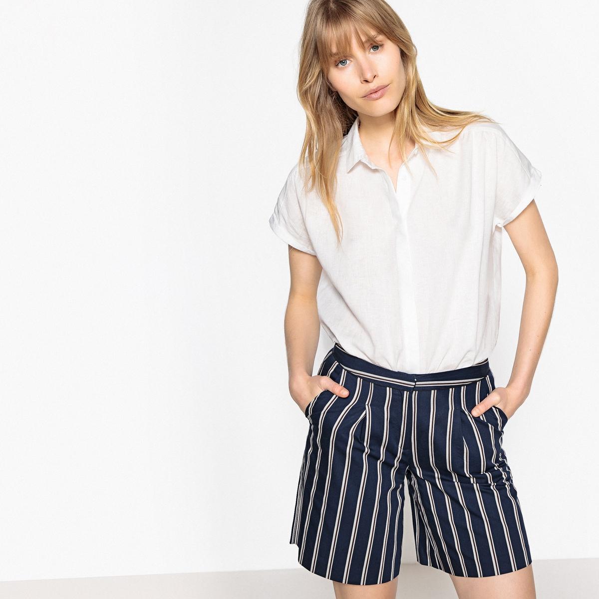 Camisa de lino, manga corta