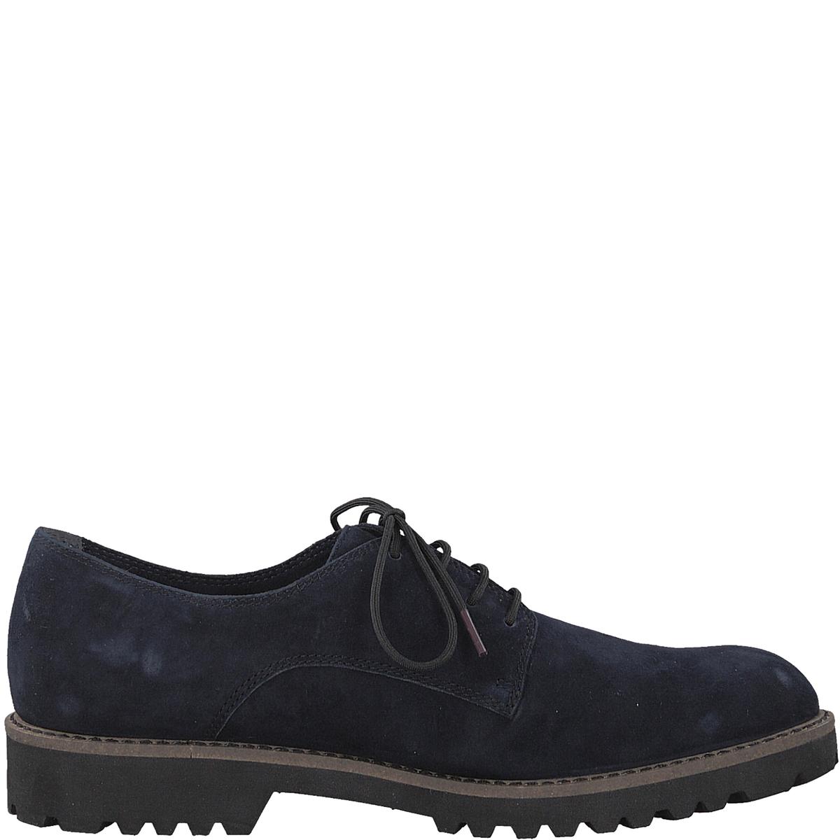 Ботинки-дерби кожаные LynnДетали •  Ботинки-дерби •  Высота каблука : 3 см •  Застежка : Шнуровка •  Круглый мысокСостав и уход •  Верх 100% козья кожа •  Подкладка 50% кожи, 50% текстиля •  Стелька 100% кожа<br><br>Цвет: синий морской