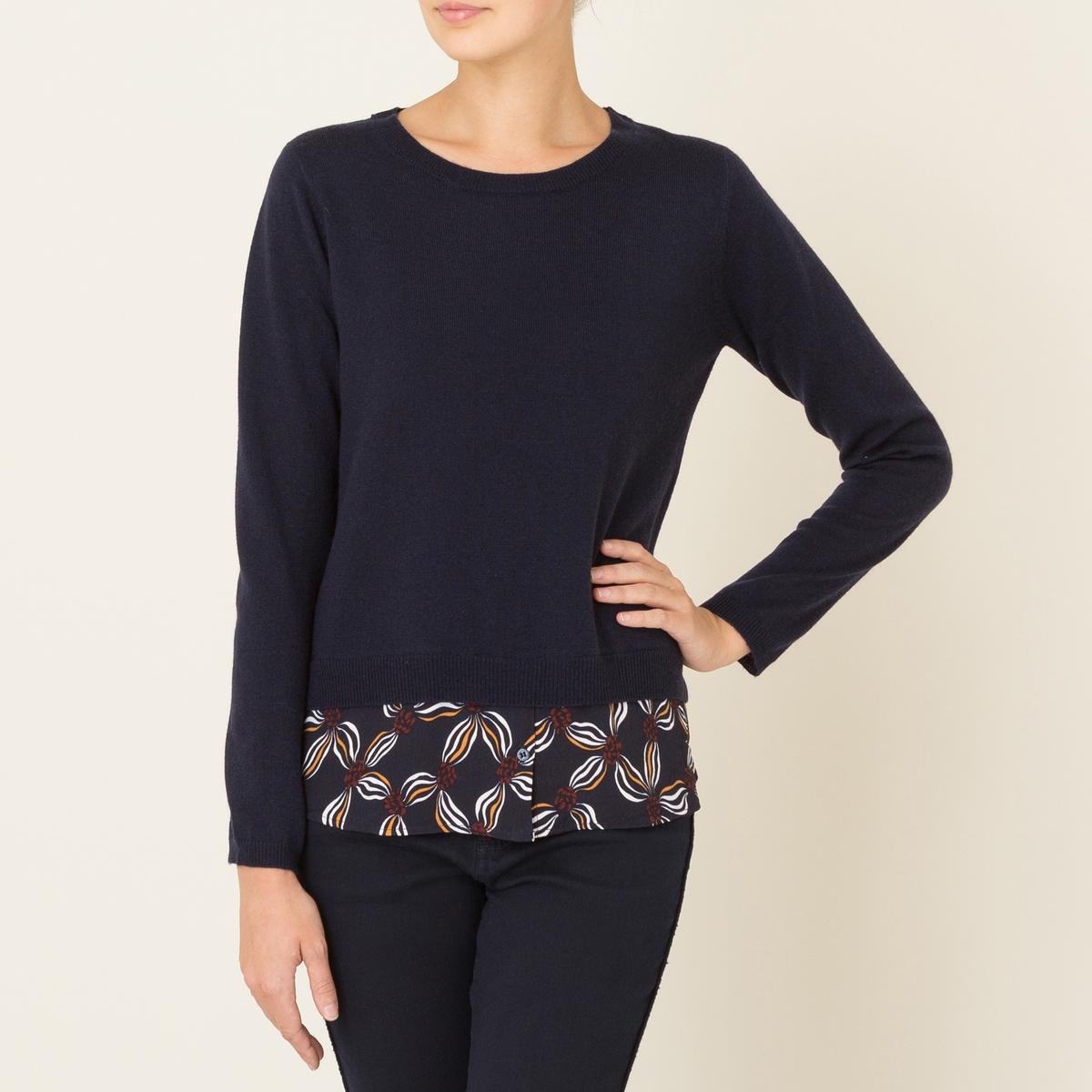 Пуловер OLIVIAСостав и описание Материал : 90% шерсти, 10% кашемираРубашечный низ 100% вискозыМарка : BERENICE<br><br>Цвет: темно-синий