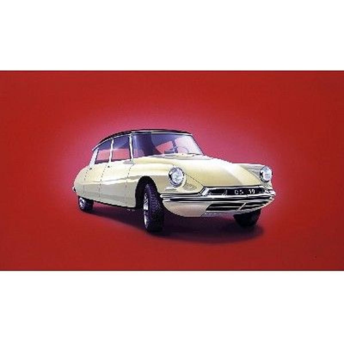 Maquette voiture : Citroën DS 19 blanche