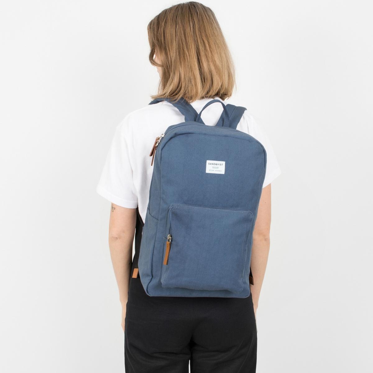 Рюкзак La Redoute Для ноутбука на молнии дюймов KIM единый размер синий ботильоны la redoute кожаные на молнии размеры 26 каштановый