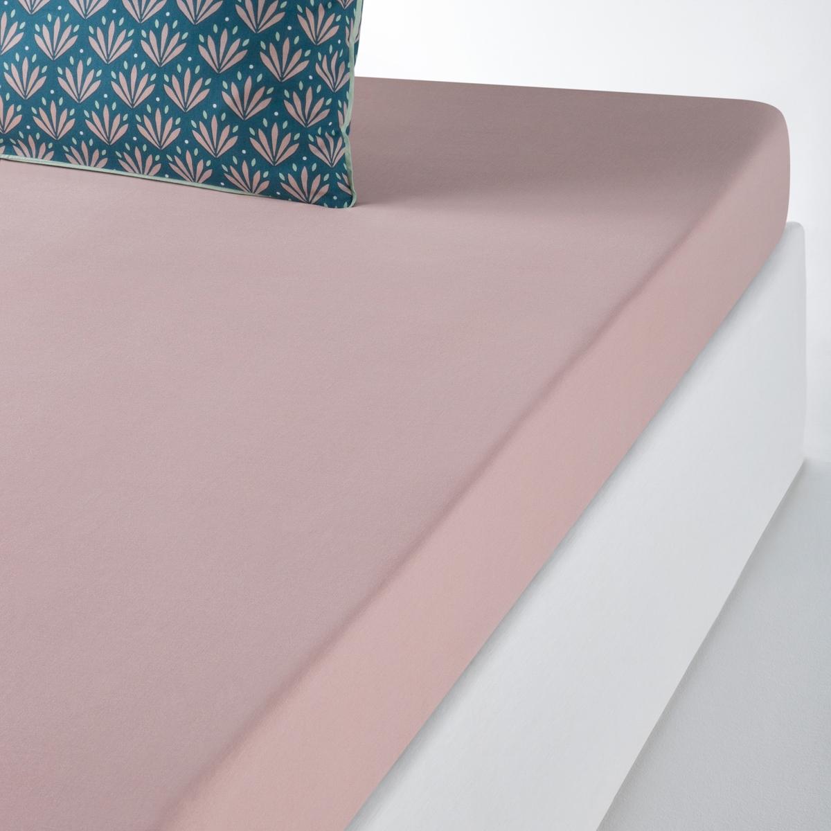 Простыня La Redoute Натяжная из хлопка VENTAIL 180 x 200 см розовый простыня натяжная из 100% хлопка jinties