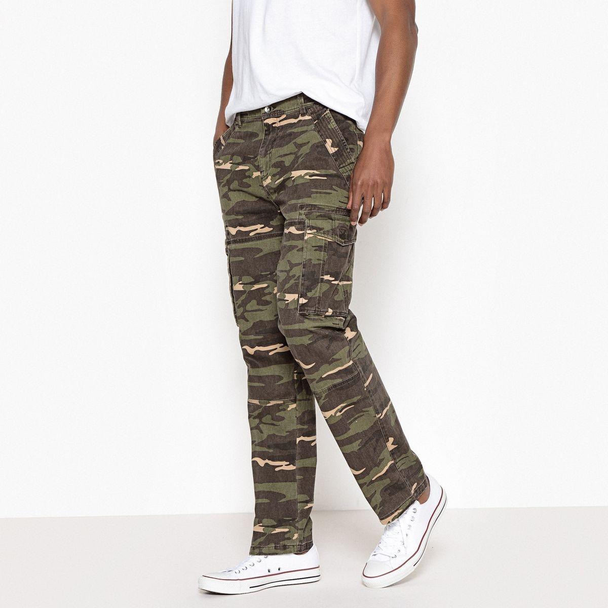 Pantalon cargo camouflage regular