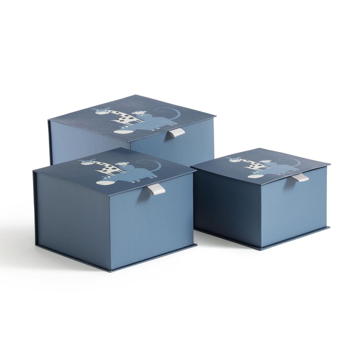 Комплект из 3 коробок, Nimali LaRedoute La Redoute единый размер синий кардиган la redoute удлиненный из трикотажа 3 года 94 см синий