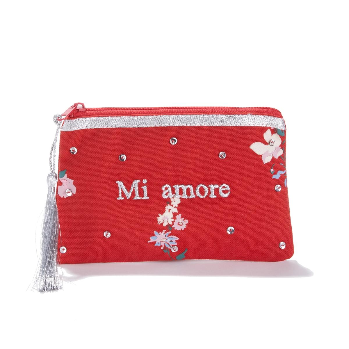 Клатч с надписью Mi amore AUDE ecco aude