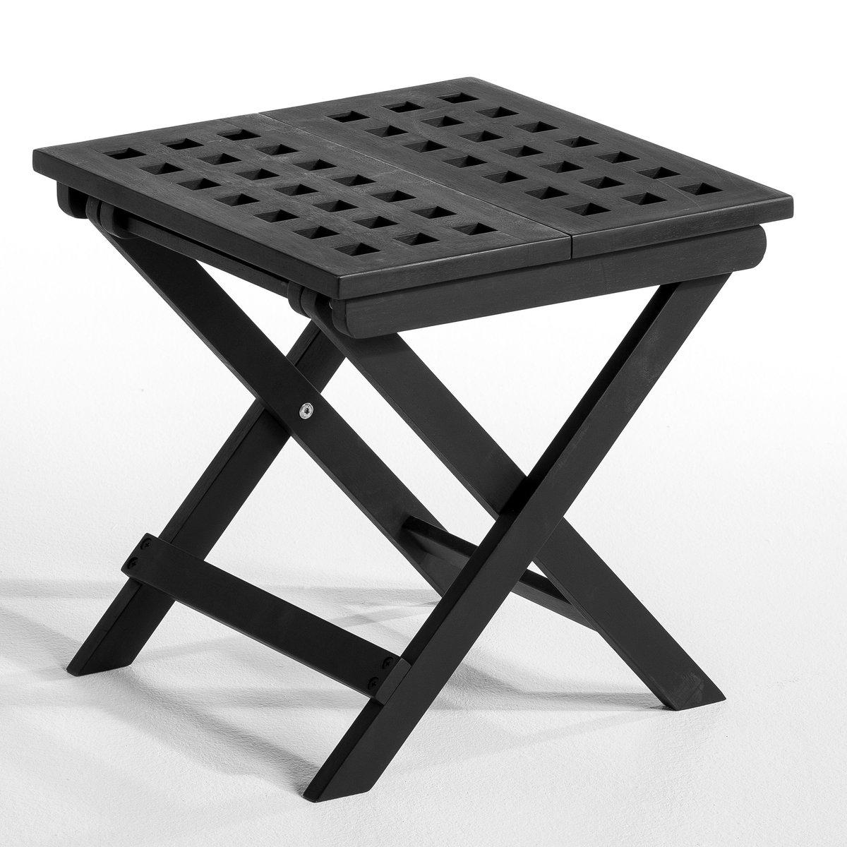 Столик садовый складной, MeltemХарактеристики:- Столешница из древесины с решётчатым рисунком.                Размеры:- Д.40 x В.40 x Г.40 см.      Размеры и вес коробки:- Д.54 x В.8 x Г.43 см, 3,5 кг.<br><br>Цвет: черный