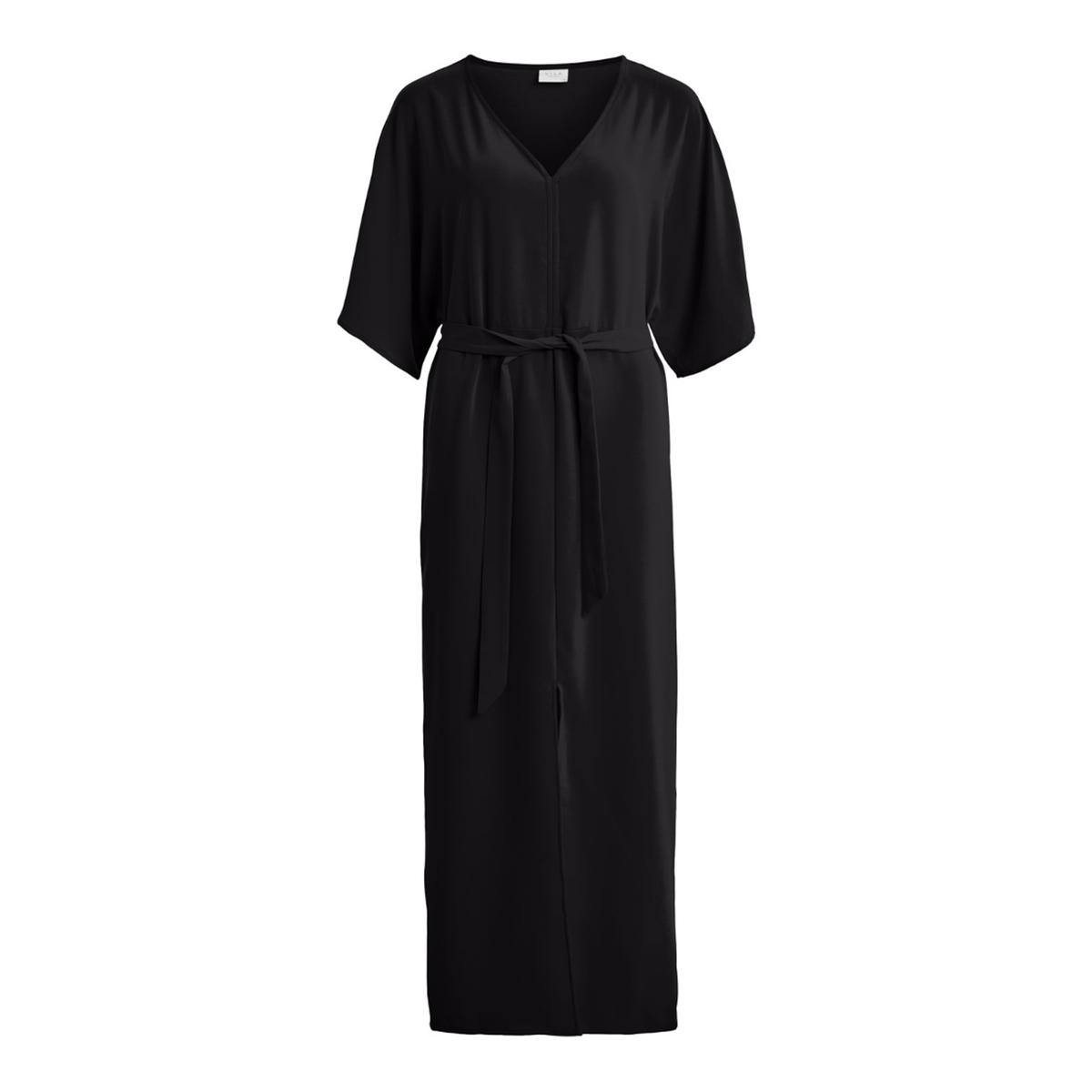 цена Платье La Redoute Длинное прямое с рукавами с ремешком 34 (FR) - 40 (RUS) черный онлайн в 2017 году