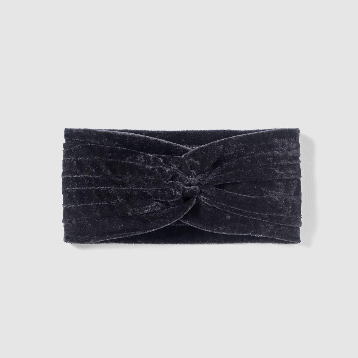 Повязка из велюраПовязка из велюра от mademoiselle R.Материал : 100% текстиль с бархатным эффектом.Размеры. : 24 x 8 см . Модный аксессуар под велюр, женственный и изысканный в любое время года .<br><br>Цвет: черный
