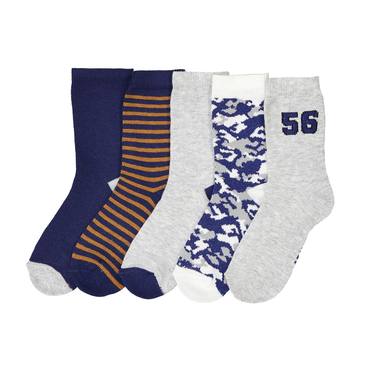 Носки с рисунком, комплект из 5 пар носки оригинальные 1 мес 3 лет 5 пар