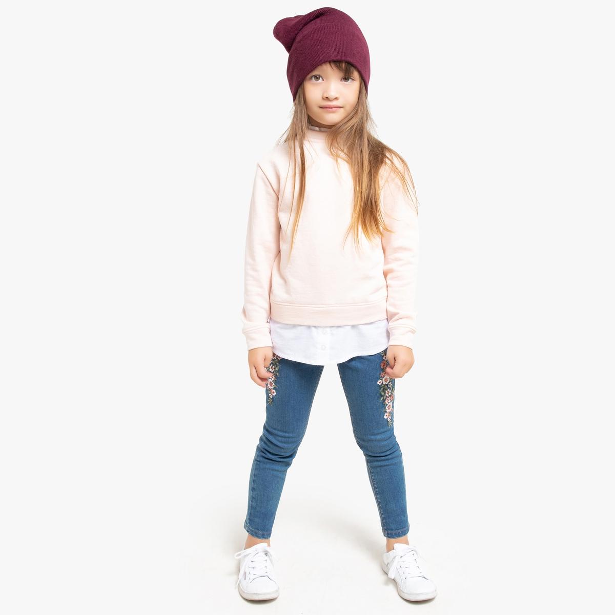 цена Джинсы La Redoute Скинни с вышивкой 12 лет -150 см синий онлайн в 2017 году