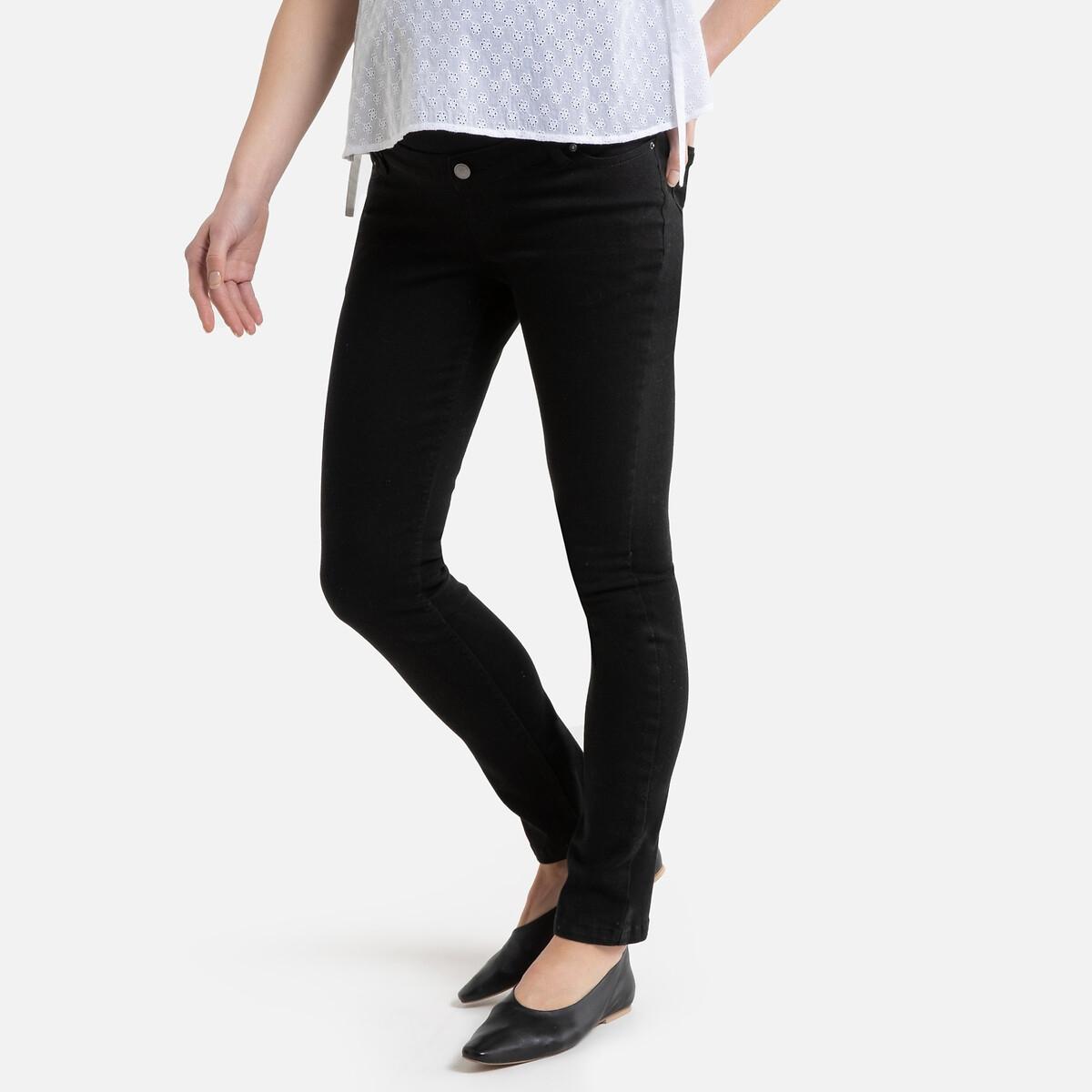 Брюки La Redoute Для периода беременности слим 46 (FR) - 52 (RUS) черный брюки la redoute узкие дудочки с жаккардовым рисунком 50 fr 56 rus черный