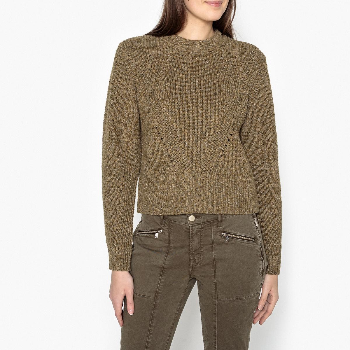 Пуловер из ажурного трикотажа CAROTA