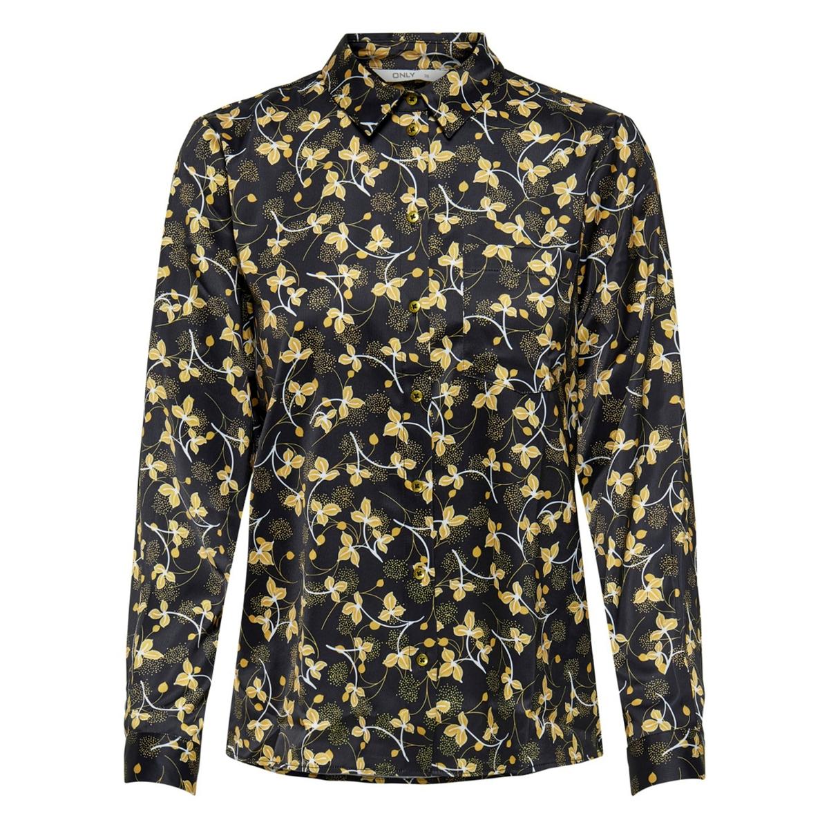 Блузка La Redoute С растительным рисунком 34 (FR) - 40 (RUS) черный платье la redoute радужное estelle 36 fr 42 rus черный