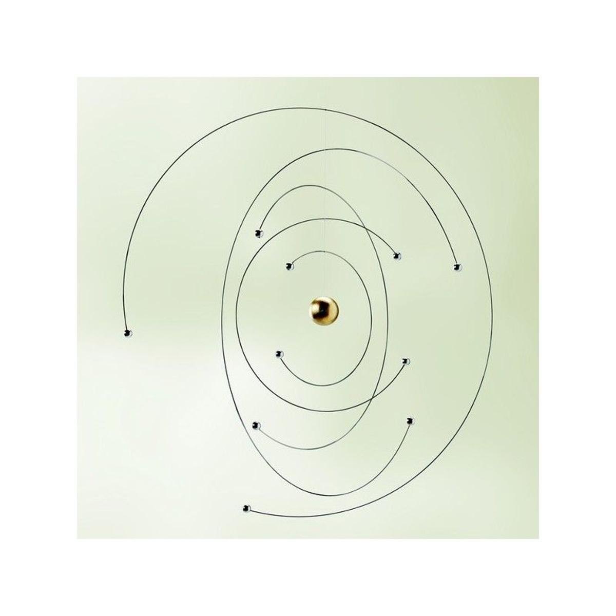 Mobile à suspendre métal argent  Niels Bohr Atom Model