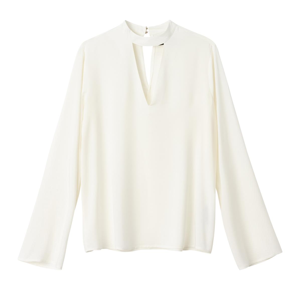 Блузка с воротником-чокером и длинными рукавами