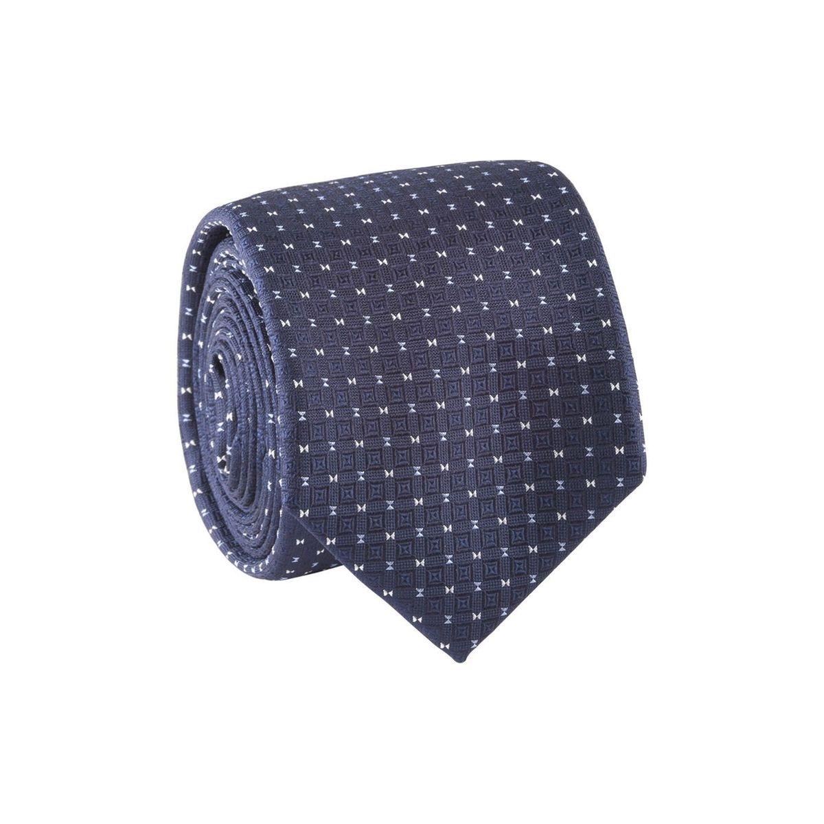 Cravate homme motif sablier Bleu marine / Bleu ciel