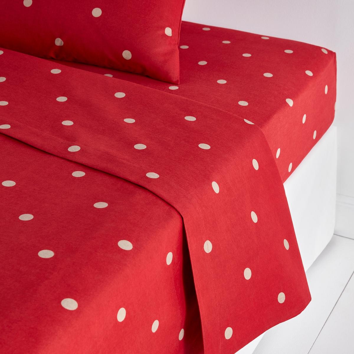 Простыня из фланели с рисунком, EdelweissФланелевая простыня с рисунком Edelweiss. Фланелевая простыня Edelweiss из 100% хлопка с рисунком соответствует идеалам удобства и уюта и дарит Вам комфорт и исключительную мягкость.Характеристики фланелевой простыни Edelweiss : Простыня с рисунком в горошек цвета экрю на красном фоне.Хлопковая фланель плотностью 152 г/м? : теплая и пушистая, прошедшая предварительную усадку для устойчивости к стиркам. Великолепно сохраняет цвет после стирок при 60°.Больше постельного белья Edelweiss на сайте laredoute. Знак Oeko-Tex® гарантирует, что товары прошли проверку и были изготовлены без применения вредных для здоровья человека веществ .Размеры :180 x 290 см : 1-сп.240 х 290 см : 2-сп..270 x 290 см : 2-сп..<br><br>Цвет: бежевый/ красный<br>Размер: 180 x 290  см
