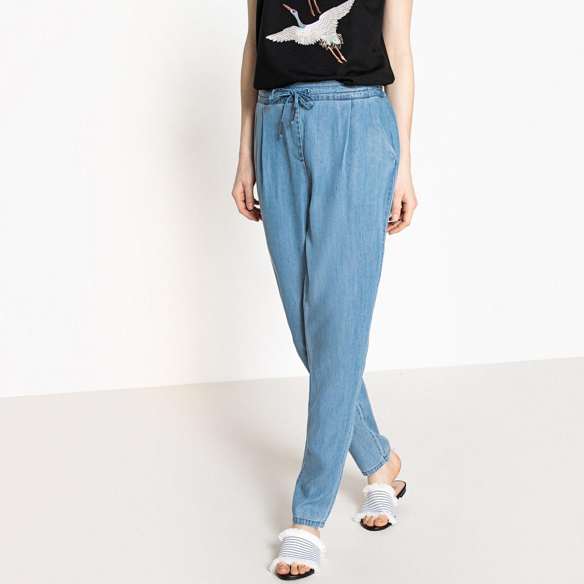 Брюки свободные, широкие три четверти брюки moda di chiara брюки широкие