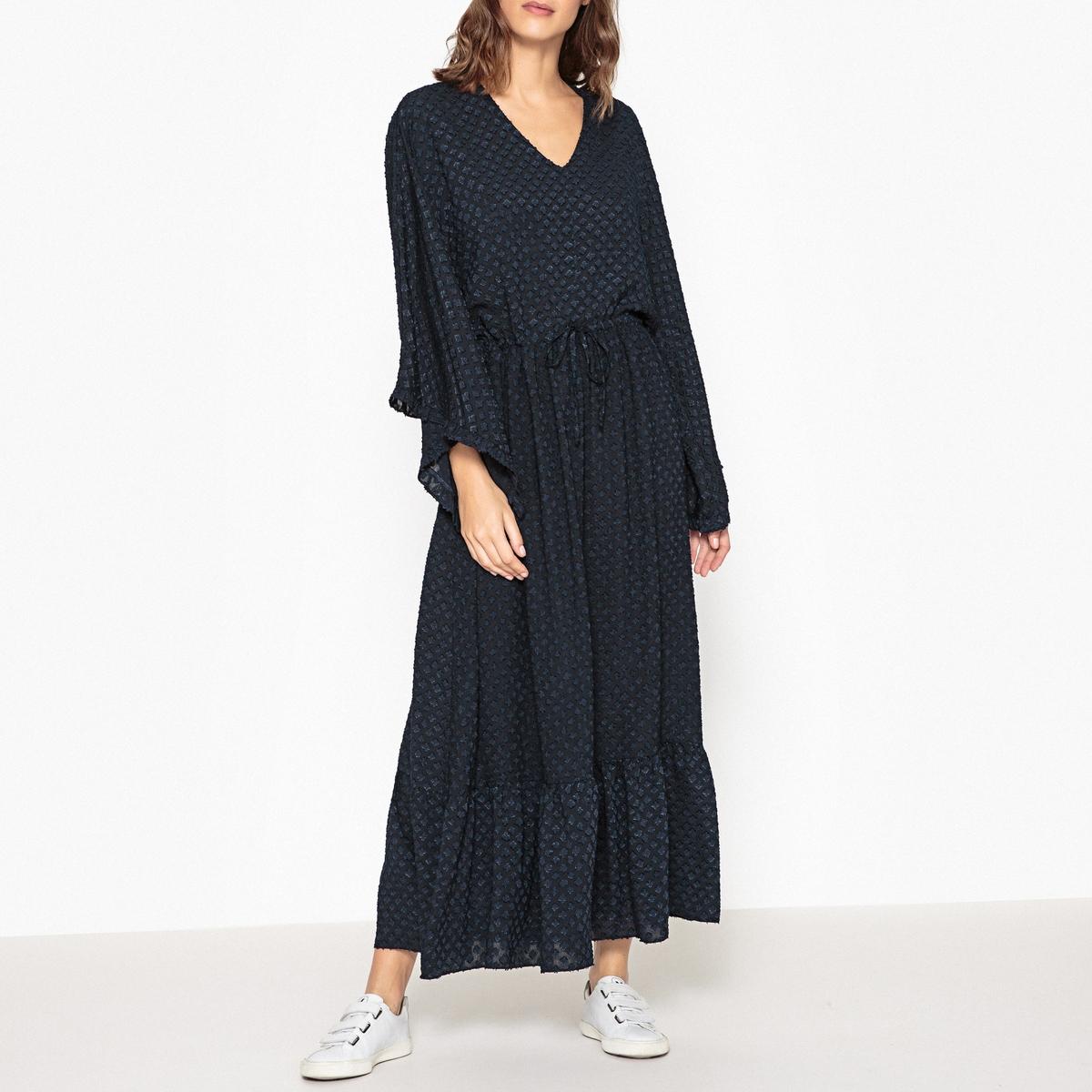 Платье длинное с V-образным вырезом ULISSE