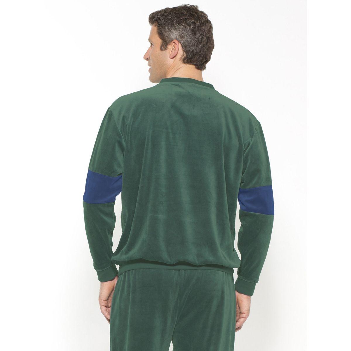 Pyjama forme jogging en velours