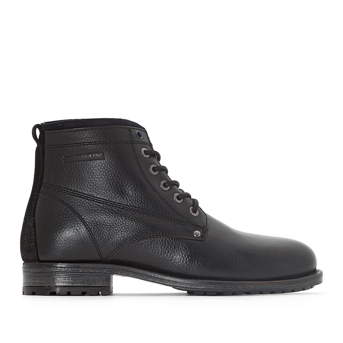 Ботильоны кожаные FAROUCHEДетали  •  Высота каблука : 2 см.  •  Застежка : на молнию •  Круглый мысок •  Гладкая отделкаСостав и уход  •  Верх 100% кожа •  Подкладка 50% кожи, 50% текстиля •  Стелька 100% кожа<br><br>Цвет: черный + темно-синий