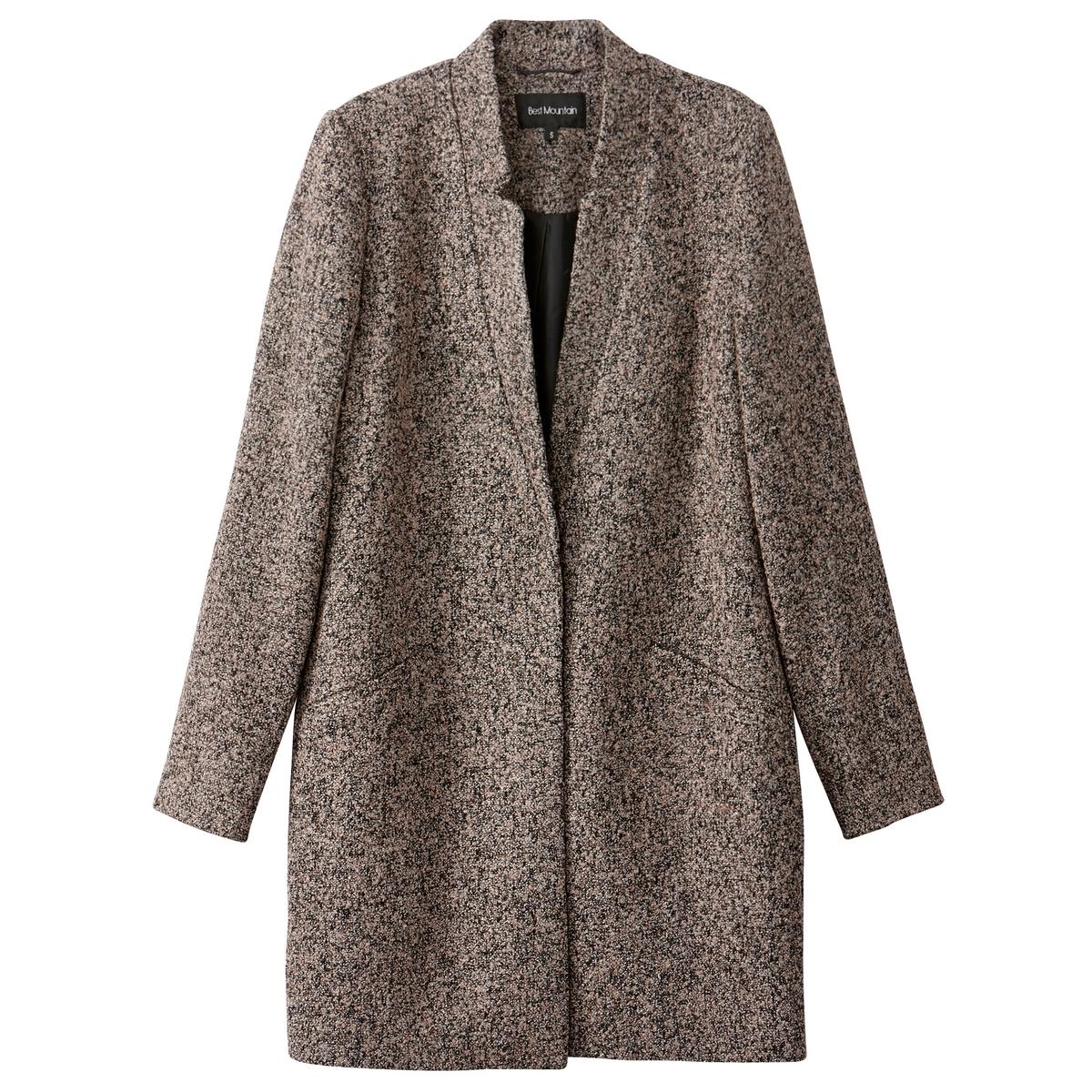 Пальто средней длиныОписание:Элегантное и изящное демисезонное женское пальто BEST MOUNTAIN. Прямой покрой. Костюмный воротник. Застежка на 1 пуговицу. 2 кармана.Детали •  Длина : средняя •  Воротник-поло, рубашечный  • Застежка на пуговицыСостав и уход •  30% вискозы, 15% хлопка, 55% полиэстера •  Следуйте рекомендациям по уходу, указанным на этикетке изделия<br><br>Цвет: каштановый<br>Размер: S.L.M