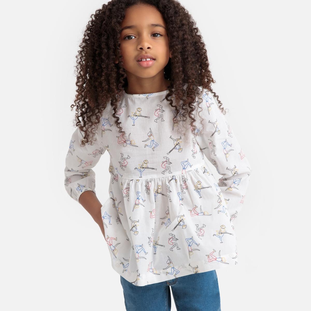 Блузка La Redoute С длинными рукавами и рисунком 12 лет -150 см другие платье la redoute с длинными рукавами с цветочным принтом 12 лет 150 см другие